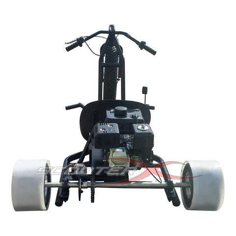 SCOOTERX 6.5HP GAS-POWERED DRIFT TRIKE - TUBULAR STEEL FRAME,BLACK/RED - Buy Online