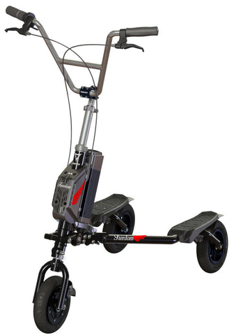 TRIKKE FREEDOM 3 Wheeled Electric Scooter - Lithium Powered, Black/Red - Buy Online