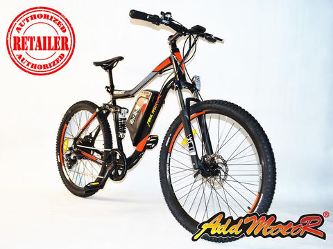 Addmotor Hithot H1 Sport 500W 48V 8.8Ah Suspension Electric Mountain Bike - Buy Online