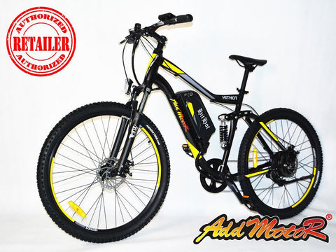 Addmotor Hithot H1 Sport 500W 48V 8.8Ah Suspension Electric Mountain Bike