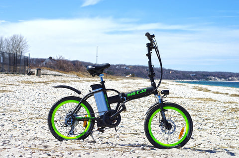 BIG CAT ALLEY CAT (Formerly HAMPTON) Folding Lithium Powered Electric Bicycle - Buy Online