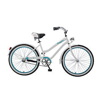 Body Glove Hayden 24.1 Girl'S Cruiser Step-Through Bicycle, White/Teal - Buy Online