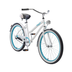 Body Glove Hayden 24.1 Girl'S Cruiser Step-Through Bicycle, White/Teal