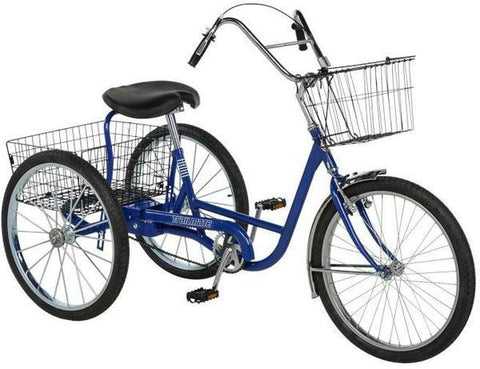 "Trailmate Hybrid 24"" Wheel Step Through Traveler Adult Trike w/ Basket - Buy Online"