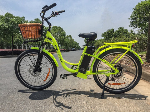 Big Cat USA Long Beach Cruiser 500W Lithium Powered Electric Bike - Buy Online