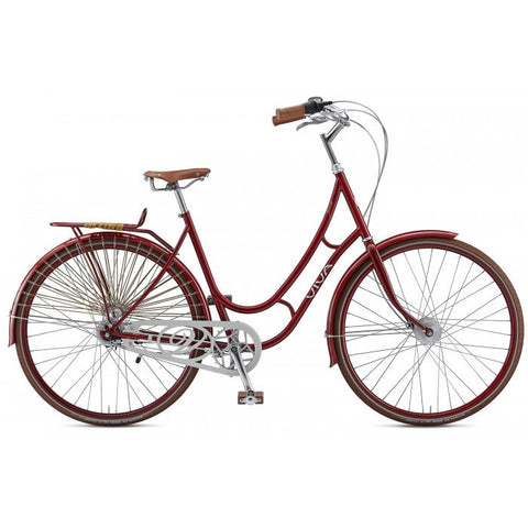 Viva Juliett 7 47 Cm Step-Through Cruiser Bicycle, 28 Inch Wheels, Burgundy - Buy Online
