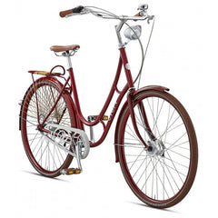 Viva Juliett 7 47 Cm Step-Through Cruiser Bicycle, 28 Inch Wheels, Burgundy