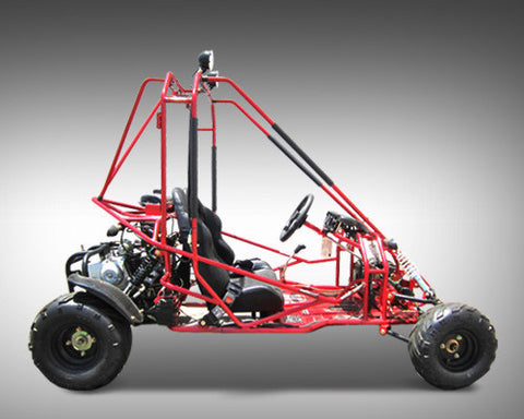 KANDI USA 125CC 2-Seat Off-Road Gas Go Kart, KD-125FM5-E, Red/Yellow/Black - Buy Online