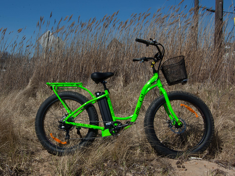 BIG CAT Long Beach Cruiser XL 500W Lithium Powered Electric Bicycle - Buy Online