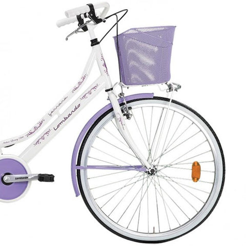 "Lombardo Ferrara Classic 26"" Women'S Step-Through City Bike, 99% Assembled, White/Violet - Buy Online"