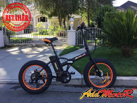 Addmotor Motan M-150 500W 48V Fat Tire Folding Lithium Electric Bike - Buy Online
