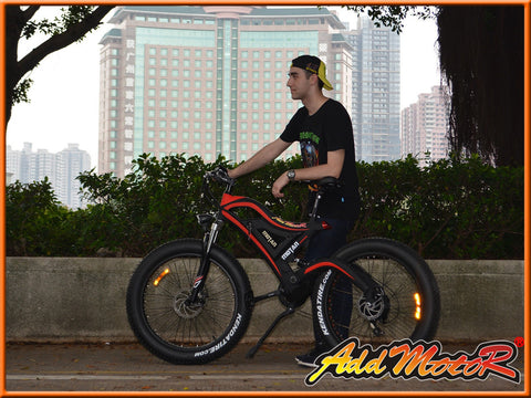 Addmotor Motan M-850 500W 48V Fat Tire Double Suspension Electric Bike - Buy Online