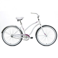 Mantis Dahlia Ladies Women's Cruiser Step Through Bicycle - White - Buy Online