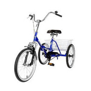 Mantis Tri-Rad 20 Single Speed Silver Adult Folding Tricycle - Buy Online