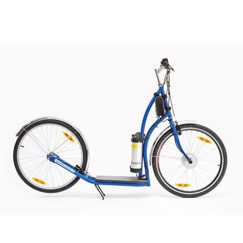 ZÜMAROUND MAXIZÜM ELECTRIC PUSH SCOOTER, WHITE/BLUE/YELLOW - Speednscooter