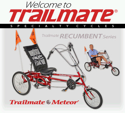 Trailmate Meteor 3 Wheeled Adult Trike w/ Rear Basket - Buy Online
