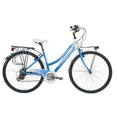 Lombardo Mirafiori 270L Commuting Bike, 99% Assembled, White/Sky Blue - Buy Online