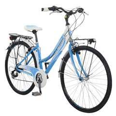 Lombardo Mirafiori 270L Commuting Bike, 99% Assembled, White/Sky Blue