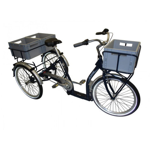 "Pfiff Classic Nexus 3 24"" Wheels Transportation Step-Through Adult Tricycle"
