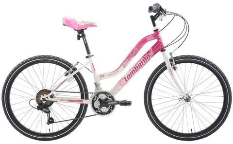 "Lombardo Panarea 24"" Women'S Step-Through Mountain Bike, 99% Assembled, Pink/White - Buy Online"