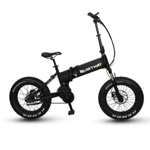 2017 Quietkat 750W Mid-Drive 48V Folding Fat Tire Electric Bike, QKF750-IB