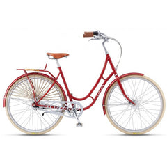 Viva Juliett Classic 7 R.47 7 Speed City Cruiser Bicycle With Lights, Red - Buy Online