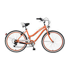 Body Glove Santorini 26.7 Women'S Cruiser Bicycle, Orange - Buy Online