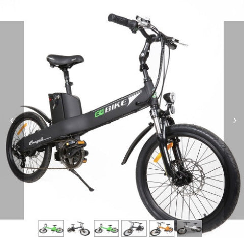 "E-GO Seagull 20"" 350W 36V 12Ah Lithium Powered Electric Bicycle LIME GREEN - Buy Online"
