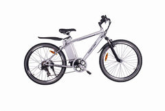 X-Treme Alpine Trails Electric Mountain Bike - 300W Affordable Pedal Assist/Twist Throttle Electric Mountain Bike