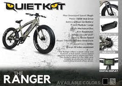 2018 Quietkat Fatkat Ranger 48V 750W Fat Tire Electric Bike, 18QKH750CCHM