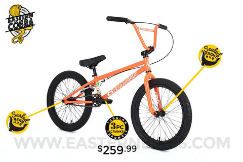 "2018 Eastern Bikes Cobra Hi Tensile Steel 20"" BMX Bike - Buy Online"