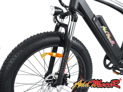 Addmotor Motan M-560 500W 48V Fat Tire Fork Suspension Electric Bike - Buy Online