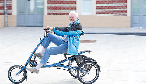 Pfiff Scooter Trike L (Long) Electric Tricycle, Blue