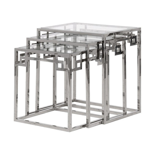 Chrome & Glass Nest of Tables