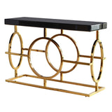 Theron Gold/Black Console Table