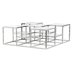 Metal/Glass Chrome Coffee Table