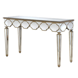 Venetian Console Table Gold Glass