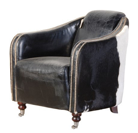 Leather Cow Hide Armchair