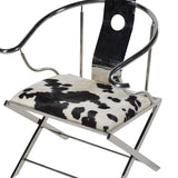 Metal Framed Cow Hide Chair