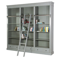 Grey Bookcase with Ladder