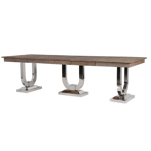 Recycled Pine/Steel Extending Dining Table