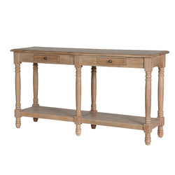 Oak Hall Table with Drawers