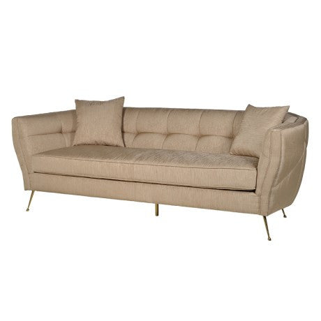 Gold 3 Seater Sofa