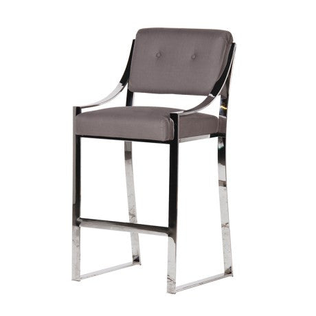 Chrome & Grey Bar stool