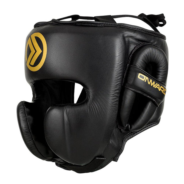 Vero Pro Head Guard-Head Guards-BLACK/GOLD-S-2AB001-095-S-Onward