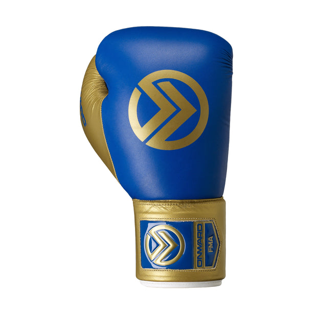 Vero Lace Up Boxing Glove-Boxing Gloves-BLUE/GOLD-8OZ-2AA001-496-8OZ-Onward