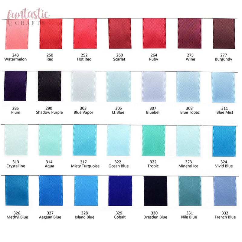 "243-329 Double Sided Solid Satin Ribbon Double Sided Satin Ribbon 243 Watermelon / 1/4"" (6mm) Funtastic Crafts blue burgundy red rose satin shiny watermelon £0.99 Funtastic Crafts"