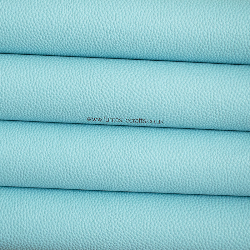 Pastel Matte Textured Leatherette - Baby Blue