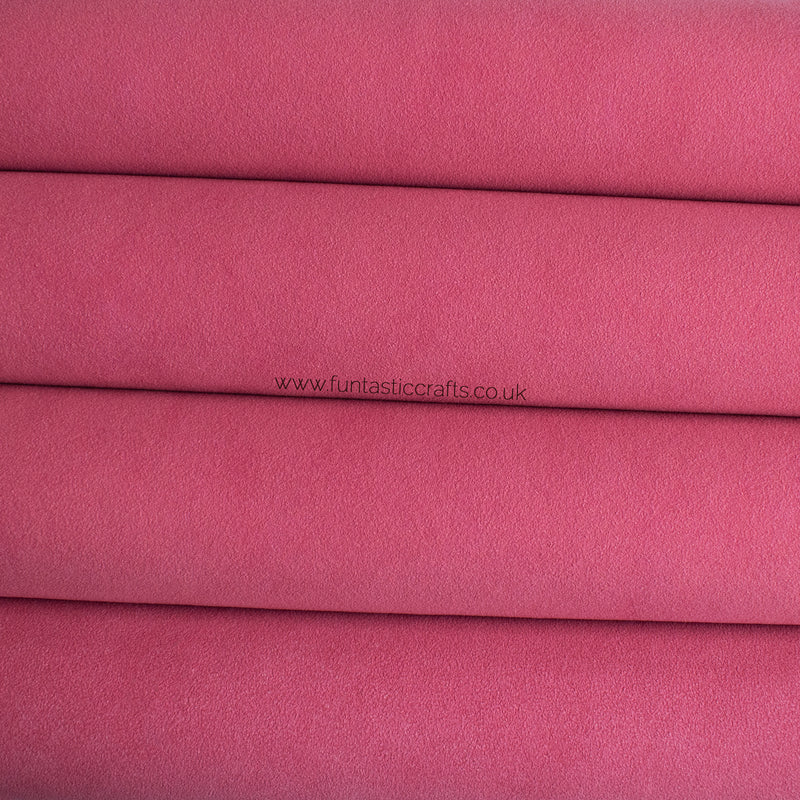Bright Pink Faux Suede Fabric