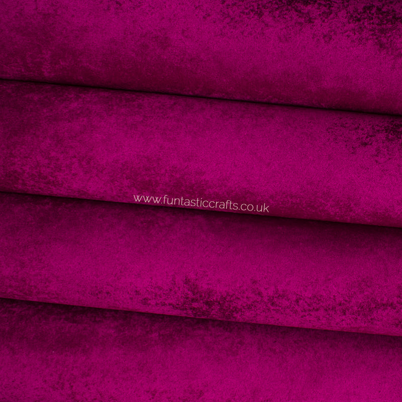 Wine Velvet Faux Leather Fabric